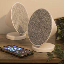 Bluetooth Speaker Portable, Pair of Round Wireless USB Rechargeable Speakers