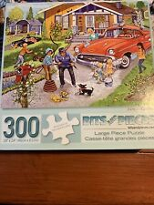 Bits And Pieces Family Car Wash 300 Pieces Puzzle Complete