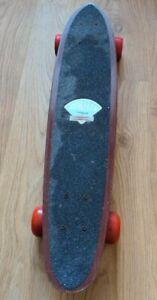 Vintage Gordon & Smith G&S Fibre Flex Wooden Skateboard 1970's - Free P&P