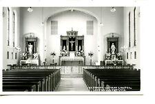 Church Interior-Campbellsport-Wisconsin-RPPC-Vintage Real Photo Postcard