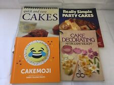 4x Cakes & Cake Decoration Books Really Simple Party Cakes Cakemoji Quick & Easy