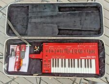 Vintage Red Roland SH-101 Monophonic Analog Synthesizer Keyboard SH101 mod grip