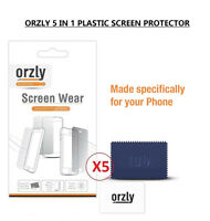 Orzly 5 in 1 MultiPack Screen Protector Guard Clear Plastic For OnePlus One
