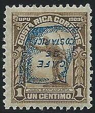 COSTA RICA YVERT Nº 102 HI *
