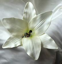 SETA FIORI, Real Touch LILY FLOWER Head, Bianco