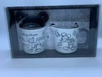 Disney Sketchbook Mickey Mouse Covered Sugar Bowl and Creamer Set NEW FREE SHIP
