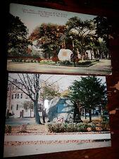 SALEM MA - CIVIL WAR - 23rd REGIMENT MVM BOULDER  OLD Postcard plus MODERN PHOTO