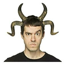 Double Horns Faun Demon Devil Beast Ram Molded Cosplay Adult Costume Accessory