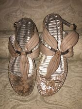 8bad32147f5b KLUB NICO GOLD   COPPER METALLIC STRAPPY FLAT SANDALS SHOES SIZE 8 M  200