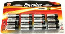 12 NEW Energizer CR123A Lithium 3V Battery for EL123 SF123 DL123 FRESH 12/2028