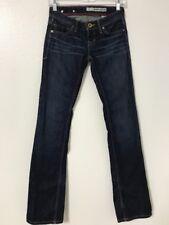 Woman DKNY Jeans  S2215 Size 25  Inseam 34 Bleecker Boot Dark Blue