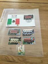 Stamps Mexico 1986.  Envelope Has 5 X Unique Stamps Showing The Team Of Mexico