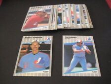 1989 Fleer Montreal Expos Team Set With Update 30 Cards Randy Johnson RC