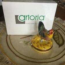 "Limoges Trinket Box ""Barnyard Rooster ""~""Artoria #21 Low Number!"" Excellent!Wow"