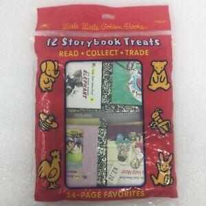 "NEW Lot of 12 ""Little Little"" Golden Books Set 1-12 Children's Picture Miniature"