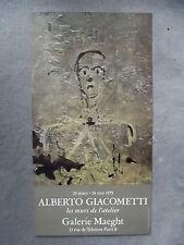 Giacometti, Alberto - Ausstellungsplakat - RARITÄT - Galerie Maeght - 1979