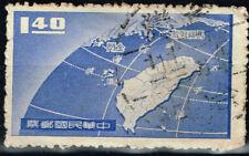 China Taiwan Map stamp 1961