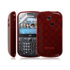 Coque étui housse en gel pour Samsung Chat 335 S3350 couleur Rouge