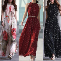 Women Summer Boho Chiffon Long Maxi Evening Party Clubwear Beach Dress Sundress