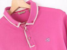 j2071 Ted Baker Vintage Polo Top Rosa ORIGINALE MADE IN PORTOGALLO Taglia 3