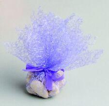 Lot de 10 tulles dragées intissé lilas baptême mariage communion
