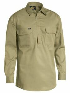Bisley Workwear Closed Front Cotton Light Weight Drill Shirt (BSC6820)
