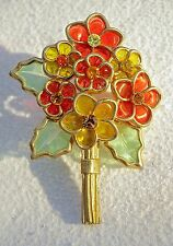 A Vintage 1940's Coro Flower Bouquet Brooch Pin