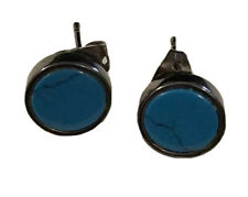 Turquoise Gunmetal Earrings Turquoise Pre-owned