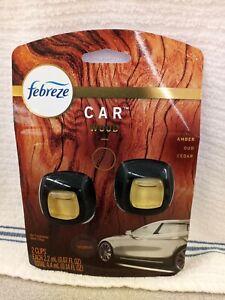 Febreze Car Truck Auto Interior Vent Clips Air Freshener Wood Scent FRESH 2 Ct