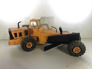 Vintage Orange Tonka Road Grader Pressed Steel Truck