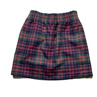 J.Crew Factory Wool Sidewalk Skirt Red & Green Plaid Holiday Womens Size 2