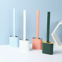 NEW Revolutionary Silicone Flex Toilet Brush And Holder Set uk
