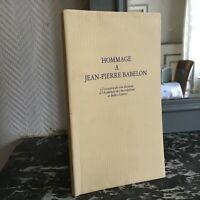 HOMMAGE à Jean-Pierre BABELON l'Académie des Inscriptions et Belles-Lettres 1994