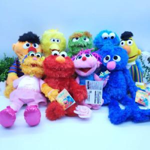 Sesame Street Elmo Bert Cookies Count Bird Oscar Zoe Soft Stuffed Plush Doll Toy