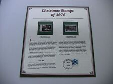 13 Cent Nativity and Winter Pastime 1976 Christmas Stamps