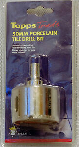 tilers 50mm Diamond Porcelain Tile Drill Bit waste pipes tiling