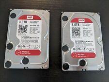 "x2 Western Digital Red 3 TB,Internal,5400 RPM,3.5"" (WD30EFRX) Hard Drive"