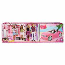 Barbie Dress Up and Go Includes Ultimate Closet, Convertible and Barbie & Ken
