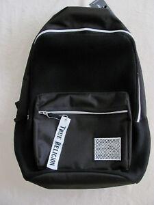 True Religion Men's Nylon Mesh Backpack -Black -NWT- Retail $99