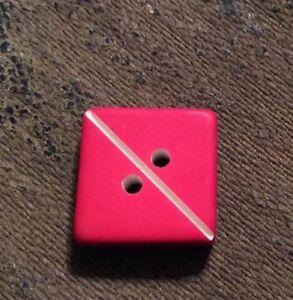 """RENAISSANCE BUTTONS #GA3923T PINK W/ WHITE DIAGONAL LINE-2 HOLE- 5/8""""--10 PIECES"""