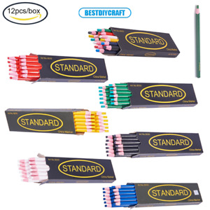 12Pcs Water Soluble Pencil Tailor Chalk Pens for Tailor's Sewing Marking Drawing
