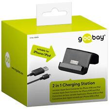 Goobay 2 in 1 Lade- & Docking Station Schwarz Micro USB mit 1m Kabel NEU OVP