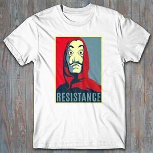 Cool T-shirt - RESISTANCE Money Heist - Casa De Papel - Salvador Dali mask