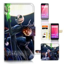 ( For ZTE Blade A520 ) Flip Case Cover P21405 Nightmare Christmas