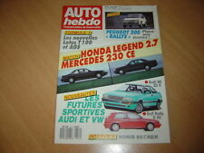 Auto hebdo N°614 205 Rallye.Legend 2.7/Mercedes 230 CE