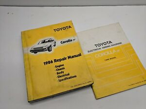 Repair Manuals Literature For 1986 Toyota Corolla For Sale Ebay