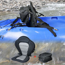 Deluxe Adjustable Padded Kayak Seat with Detachable Back Bag Canoe Backrest
