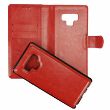 Samsung Galaxy Note 9 Wallet Case Twin 2in1 Book Etui und Cover Magnet Hülle Rot