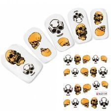Nagel Sticker Nail Art Tattoo Skull Halloween Totenkopf Aufkleber Neu!