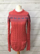 Superdry Women's Longline Cotton Nordic Jumper Sweater Size M